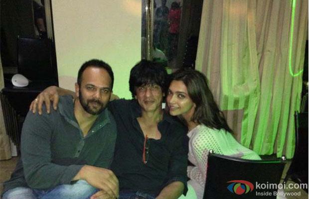 Rohit Shetty, Shah Rukh Khan and Deepika Padukone