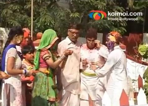 Holi on the sets of Chidiya Ghar