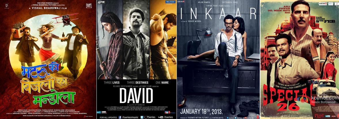 Matru Ki Bijlee Ka Mandola, David, Inkaar and Special Chabbis 26 Movie Poster