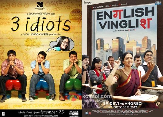 3 Idiots And English Vinglish Movie Poster