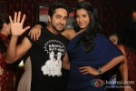 Ayushmann Khurrana, Gaelyn Mendonca At Nautanki Saala Movie Premiere in Dubai