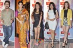 Ayushmann Khurrana, Vidya Balan, Pooja Salvi, Bhagyashree And Evelyn Sharmai at the screening of movie 'Nautanki Saala'