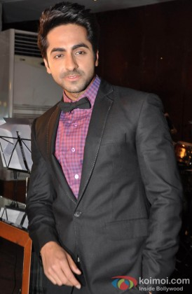 Ayushmann Khurrana during the music success party of film Nautanki Saala