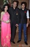 Bhagyashree with her husband Himalaya and son Abhimanyu at 'Jai Maharashtra' Channel Launch