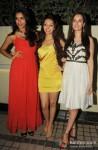 Gaelyn Mendonca, Pooja Salvi And Evelyn Sharma At 'Nautanki Saala' Success Bash
