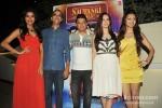 Gaelyn Mendonca, Rohan Sippy, Bhushan Kumar, Evelyn Sharma And Pooja Salvi At 'Nautanki Saala' Success Bash