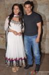 Juhi Chawla and Aamir Khan at special screening of 'Qayamat Se Qayamat Tak'