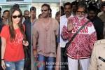 Kareena Kapoor, Ajay Devgan And Amitabh Bachchan snapped at Bhopal Airport