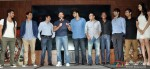Kunal Khemu, Raj Nidimoru, Sunil A Lulla, Saif Ali Khan, Dinesh Vijan, Krishna DK, Shridhar Subramaniam, Sachin, Jigar and Puja Gupta at 'Go Goa Gone' Music Launch