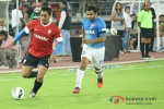 Mahendra Singh Dhoni And Sachiin Joshi Play Football
