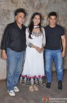 Mansoor Khan, Juhi Chawla and Aamir Khan at special screening of 'Qayamat Se Qayamat Tak'