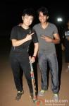 Meiyang Chang And Abhijeet Sawant at play cricket match