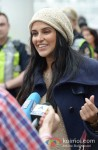 Neha Dhupia arrive in Vancouver for TOIFA 2013