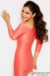 Pooja Chopra looks cutesy in a peach dress
