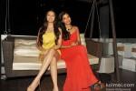 Pooja Salvi And Gaelyn Mendonca At 'Nautanki Saala' Success Bash