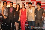 Gaelyn Mendonca, Ayushmann Khurrana, Pooja Salvi, Evelyn Sharma And Kunaal Roy Kapur At Music Success Bash of 'Nautanki Saala'