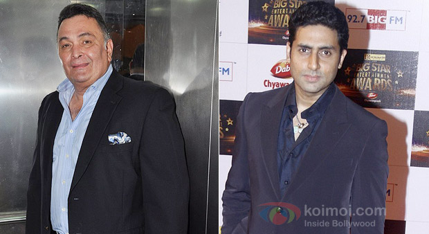 Rishi Kapoor and Abhishek Bachchan