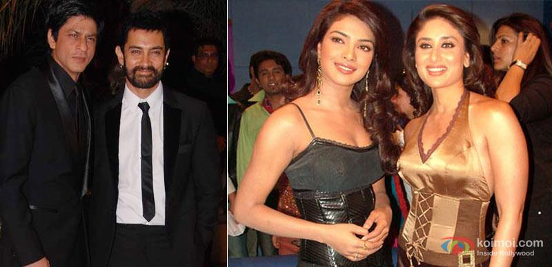 Shah Rukh Khan, Aamir Khan, Priyanka Chopra And Kareena Kapoor