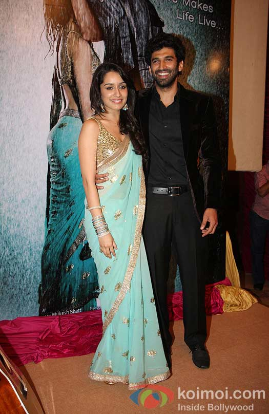 Shraddha Kapoor And Aditya Roy Kapur At Aashiqui 2 Music Launch Pic