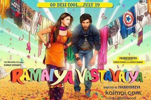 Shruti Haasan And Girish Kumar in Ramaiya Vastavaiya Poster