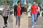 Sonakshi Sinha, Varun, Dhawan And Abhishek Bachchan Return From 'Delhi Charity Match'