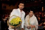 Sonu Nigam And Lata Mangeshkar At Master Dinanath Mangeshkar Award ceremony 2013