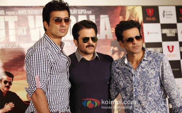 Sonu Sood, Anil Kapoor And Manoj Bajpai At Press Meet of 'Shootout At Wadala'