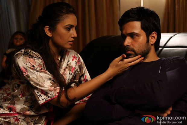 Huma Qureshi and Emraan Hashmi in a still from Ek Thi Daayan Movie