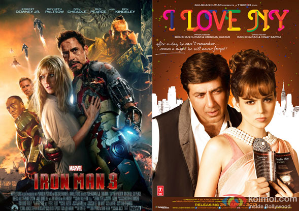 Iron Man 3 and I Love New Year Movie Poster