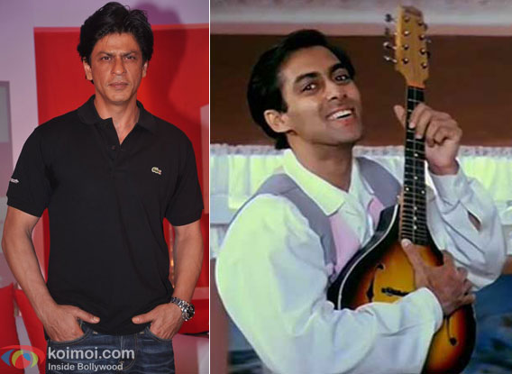Shah Rukh Khan and Salman Khan in a still from Hum Apke Hai Kaun Movie