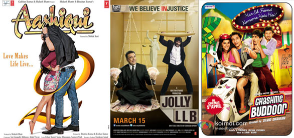 Aashiqui 2 Jolly LLB And Chashme Baddoor Movie Poster