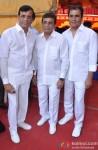 Abbas Burmawalla, Mustan Burmawalla and Hussain Burmawala at the Mahurat of 'Gang Of Ghosts'