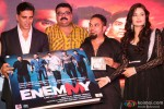Akshay Kumar and Yuvika Chaudhary at music launch of 'Enemmy'