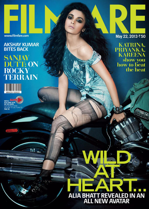 Alia Bhatt On Filmfare Magazine Cover Page