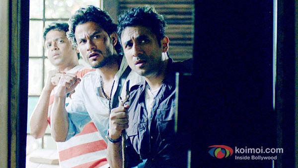 Anand Tiwari, Kunal Khemu, Vir Das in Go Goa Gone Movie Stills
