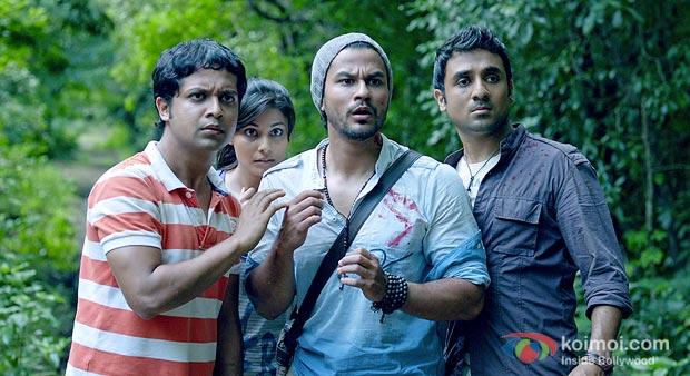 Anand Tiwari, Puja Gupta, Kunal Khemu, Vir Das in Go Goa Gone Movie Stills
