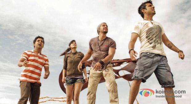 Anand Tiwari, Puja Gupta, Kunal Khemu And Vir Das in Go Goa Gone Movie Stills