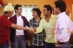 Anshuman Jha, Dhruv Ganesh, Manu Rishi, Aarya Kumar and Raj Kumar Yadav in Boyss Toh Boyss Hain Movie Stills