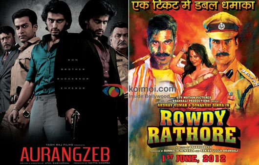 Aurangzeb And Rowdy Rathore Movie Poster