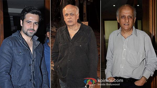 Emraan Hashmi, Mahesh Bhatt and Mukesh Bhatt