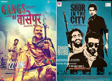 Gangs of Wasseypur And Shor in the City Movie Poster
