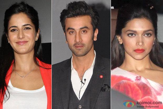 Katrina Kaif, Ranbir Kapoor and Deepika Padukone