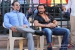 Gulshan Grover And Saif Ali Khan On the sets of Bullet Raja Pic 2