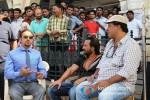 Gulshan Grover, Saif Ali Khan And Tigmanshu Dhulia On the sets of Bullet Raja