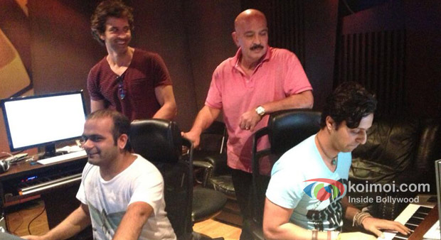 Hrithik Roshan, Rakesh Roshan And Salim Merchant