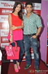Chetna Pande and Ruslaan Mumtaz at 'I Don't Luv U' Movie Promotion in Patna Pic 1