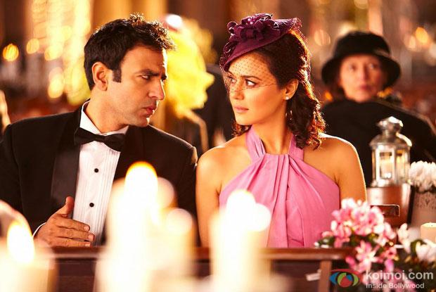 Rhehan Malliek and Preity Zinta in a still from Ishkq In Paris Movie