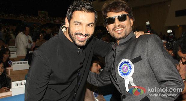 John Abraham And Irrfan Khan at the 60th National Film Awards 2012