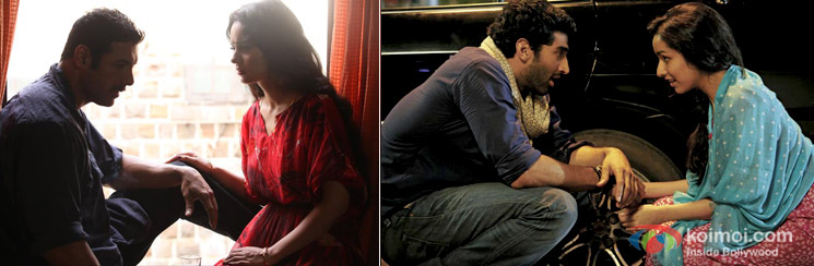 ohn Abraham and Kangana Ranaut in Shootout At Wadala Movie Stills And Aditya Roy Kapurand Shraddha Kapoor in Aashiqui 2 Movie Stills