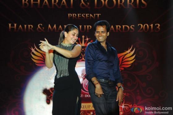 Kareena Kapoor perform on stage at Bharat-N-Dorris Hair & Make-up Awards 2013